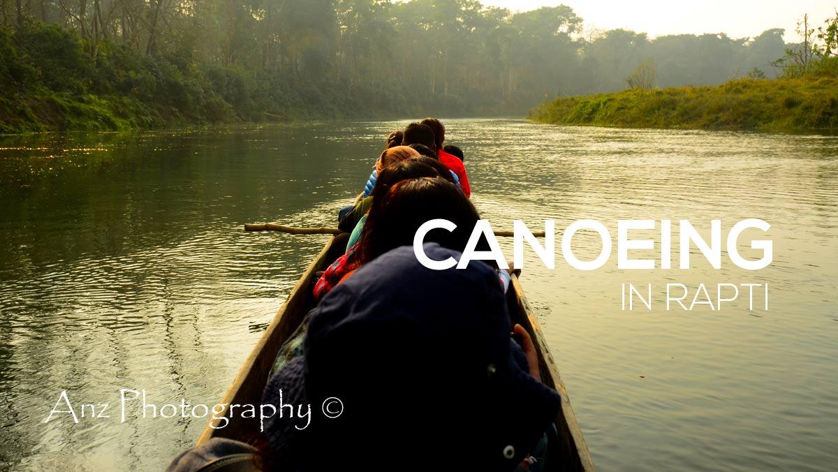 Canoeing in Rapti, Chitwan