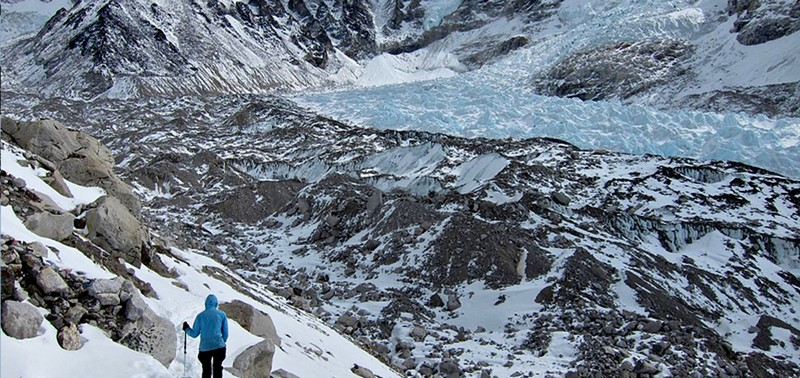 Everest Ice Fall from Base Camp
