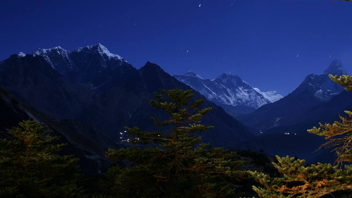 Night View of Everest From Lodge